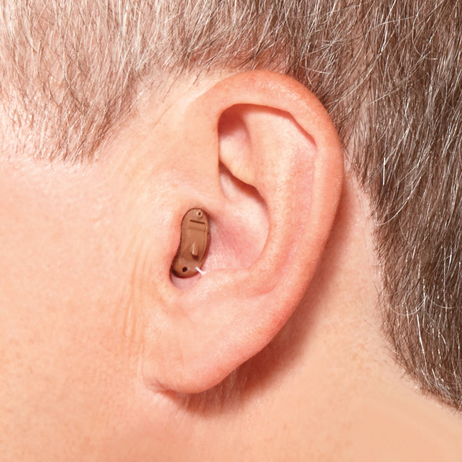Hidden hearing aids - CIC (Completely In the Canal)